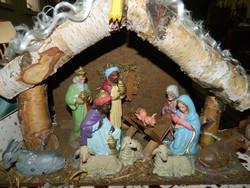 Antik Betlehem fa házikóban