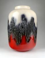 1C697 Mid century nagyméretű iparművész kerámia váza 35 cm