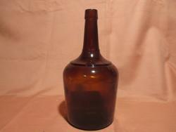 Régi barna likőrös üveg, palack