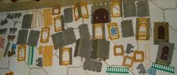 Schenk játékvár 100 darab szocreál trafik áru gyerek katonás playmobilo hazai változata  építő játék