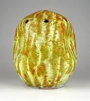 1C740 Retro narancs mázas ikebana kerámia váza 16.5 cm