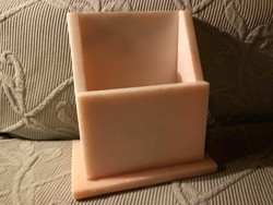 Rózsaszín márvány asztali orvosi recepttartó - Biogal Maripen
