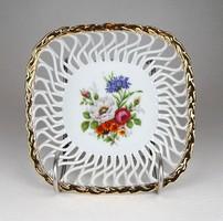 1C783 Iris aranyozott porcelán áttört kosár 15 cm