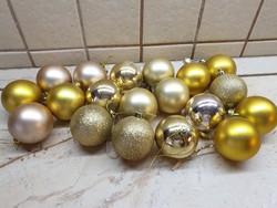 Retro, arany színű karácsonyfa dísz 19 db eladó!