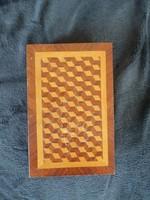 Intarziás könyv alakú fadoboz