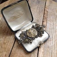 Antik szecessziós bronz övcsat