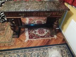 Eredeti Barokk asztal 2 fiókos ritka darab