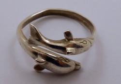 925-ös delfin ezüst gyűrű