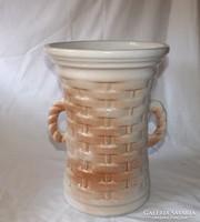Mázas kerámia váza,esernyő tartó nagy méretű