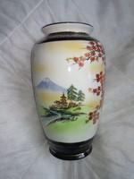 Keleti stílusú festett porcelán váza, china japan style vase