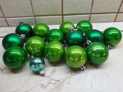 Retro, zöld színű karácsonyfa dísz 15 db eladó!