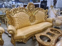 Aranyozott barokk ülőgarnitúra