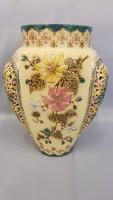 Antik gyönyörű Zsolnay áttört díszítésű lámpatest, váza