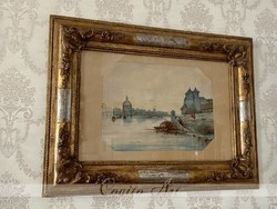 Biedermeier Aquarell 1800-as évek