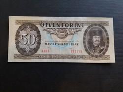 50 Forint 1986 Ef, középen függőlegesen 1 hajtás.