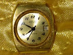 Antik automata art deco vízálló aranyozott óra arany női karóra antique gold  waterproof  watch