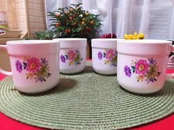 Alföldi porcelán virágmintás bögrék