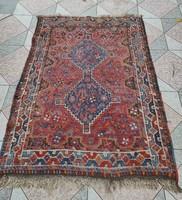 Antik szőnyeg kézicsomózàsú ,figurális gyönyörű keleti Madarak, virágok,teli élettel színekkel!