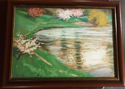 KARCZAG ZOLTÁN 1881 - 1944 -Tavszi virágzás a Tiszán-