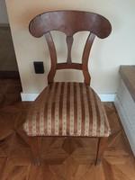 Támlás biedermeier szék