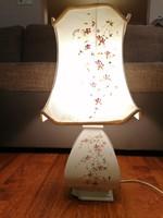 Vecchia Bassano olasz lámpa, ibolyamintás testtel és búrával. A búra és a test is jelzett! 50 cm!