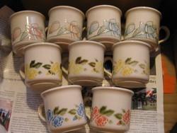 Angol vegyes virágos kávés, teás csészék