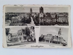 Régi képeslap Kiskunfélegyháza Kossuth utca Fürdő-szálló