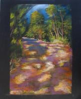 Moona - Napsütötte sétány EREDETI pasztell festmény