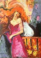 Hepp Natália: Kedvenc cicával