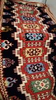Gyapjú kézi szőnyeg ,falikárpit 186*63 cm