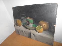 Szlávik Dezső Olaj Festmény - Csendélet