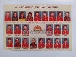 Magyar labdarúgó válogatott vb 1982 hivatalos tablókép képeslap foci futball