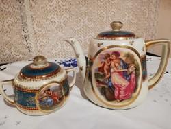 Eladó régi porcelán Alt wien teaskanna és cukortartó!