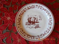 Zsolnay vadász jelenetes süteményes tányér