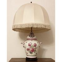 HÖCHST második legrégibb Európai porcelán manufaktúra kézzel festett asztali lámpa eladó
