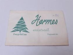 Retro karácsonyi csomagolás régi Hermes ezüstszál karácsonyfadísz
