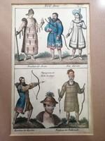 Antik litográfia - Nord Asien