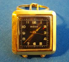 Art Deco svájci Doxa aranyozott, támasztólábas függőóra, zsebóra
