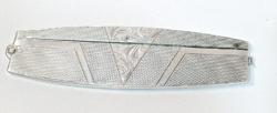 Szecessziós antik ezüst fésűtok / bicska-fésűtok