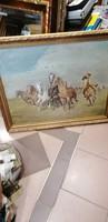 Viski János lovas festmény