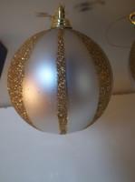 Karácsonyfadísz - 3 db - csillámos - műanyag karácsonyfadísz - 8 cm