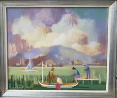 Pleidell János, 60x50 cm, olaj, vászon, szignózott