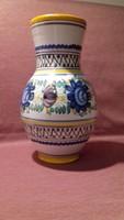 Habán motívumos kerámia váza, nagyméretű, öblös, kézműves munka