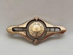 Antik Aranyozott Ezüst Bross 1870 Körül