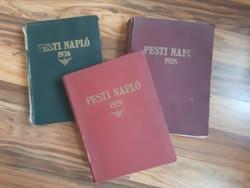 Pesti Napló 1928, 1929, 1936 Teljes Évad