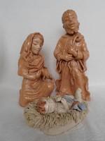Szent Család   nagyobb méretű kerámia szobor-csoport