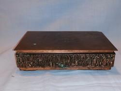 Zsűrizett fémműves iparművész zenélő bronz doboz