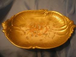 Antik Sevres,eredeti aranyozott jelzett asztalközép ornamentikás kínáló 37 x 25-cm