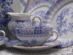 Kék teás-kávés készlet