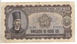 25 lei 1952 Románia